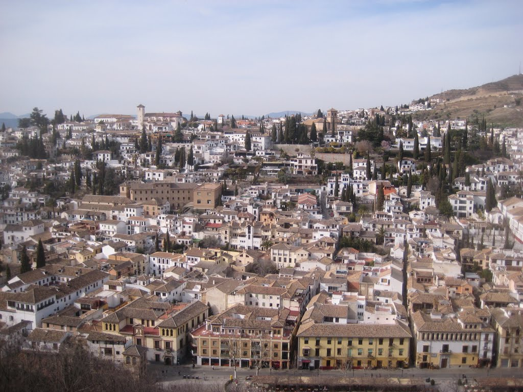 Granada, Spain, viewed from the Alhambra